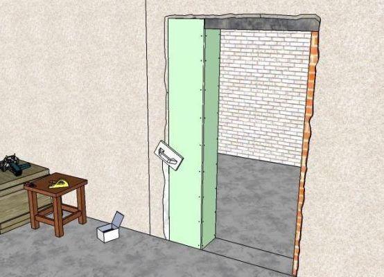 подготовительные работы к установке двери