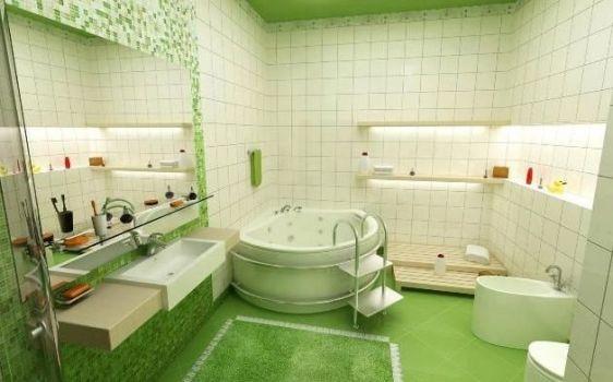 положительные свойства плитки для ванной