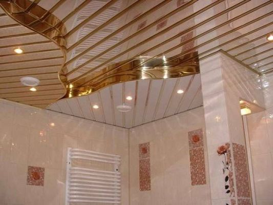 дизайнерские реечные потолки