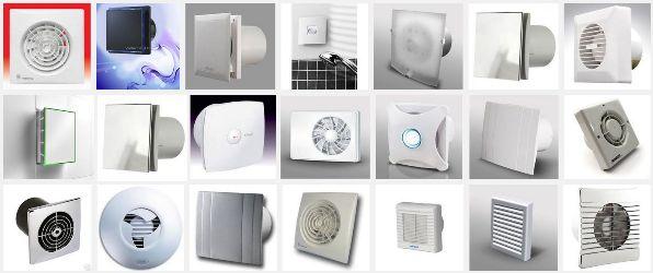 варианты вентиляторов для вытяжки