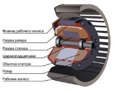 вентилятор в разрезе