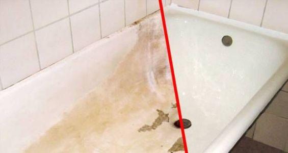 старая ванна и новая после реставрации акрилом