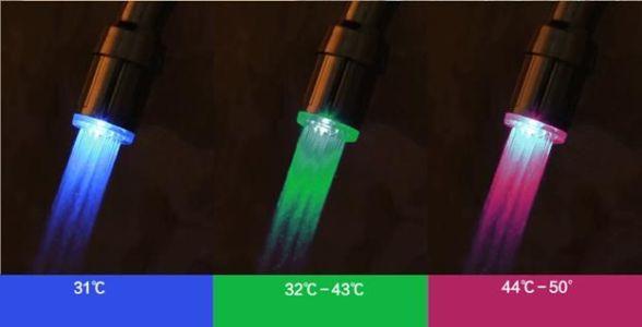 аэратор с подсветкой в зависимости от температуры воды