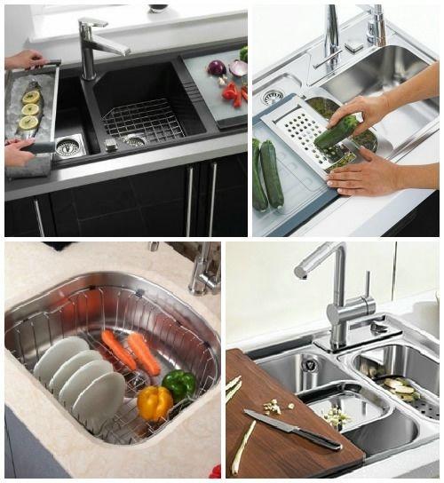 дополнительный функционал раковины на кухне
