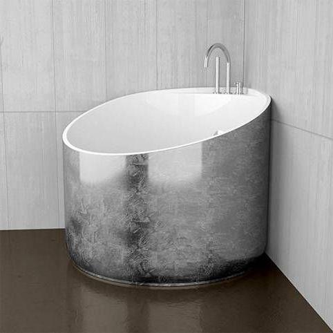 несимметричный дизайн ванной сидячей