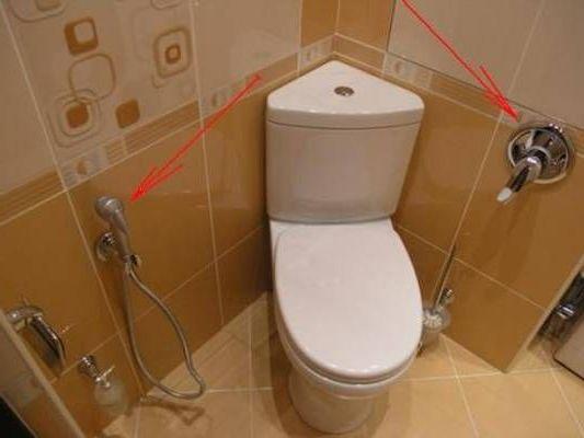 где смеситель и где гигиенический душ