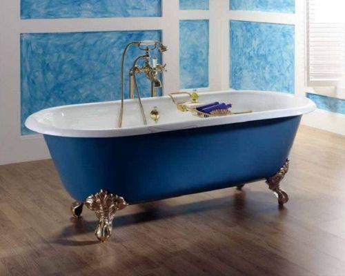 отдельностоящая чугунная ванна