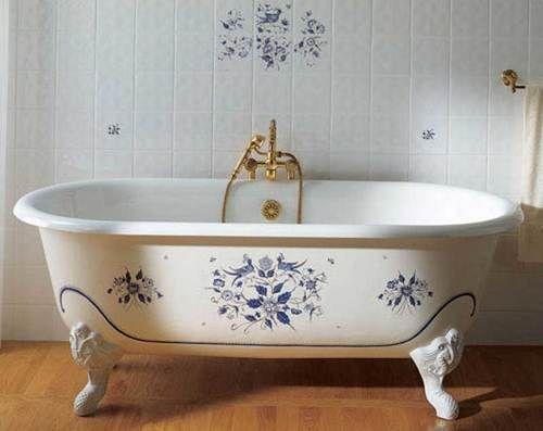 чугунная ванна с ножками