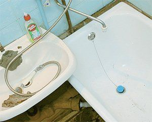 чугунная ванна с раковиной