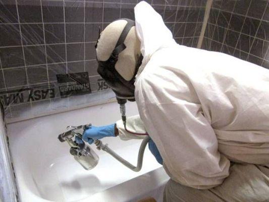реставрация ванны методом распыления
