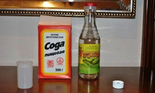 сода и уксус от грибка