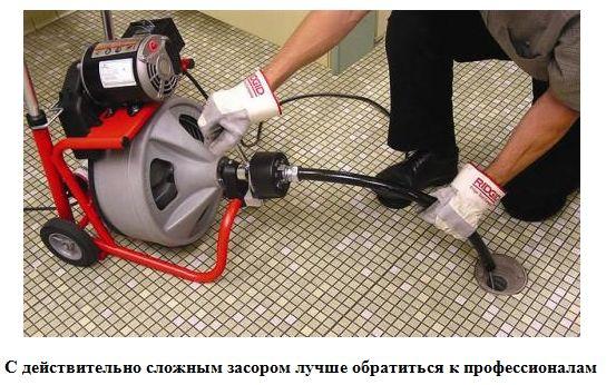 профессиональная прочистка канализационных засоров с использованием оборудования