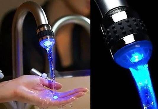 смеситель с подсветкой для ванны