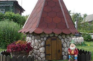 колодец домик