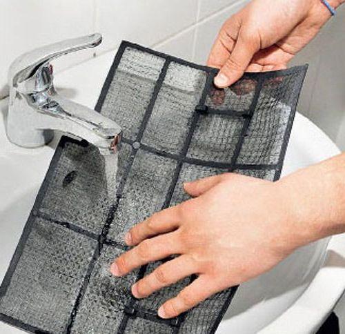 прочистка фильтра под краном воды