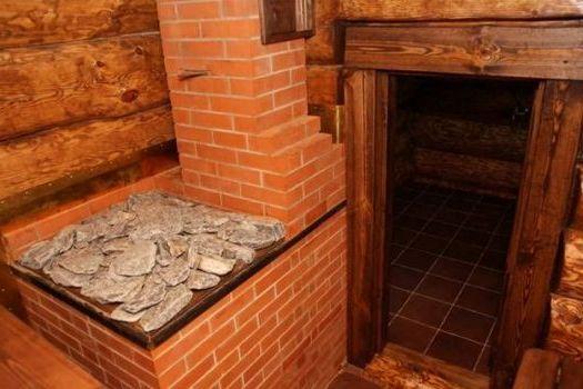 печь в бане обложенная кирпичем