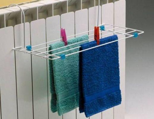 мокрые полотенца привесить к радиатору