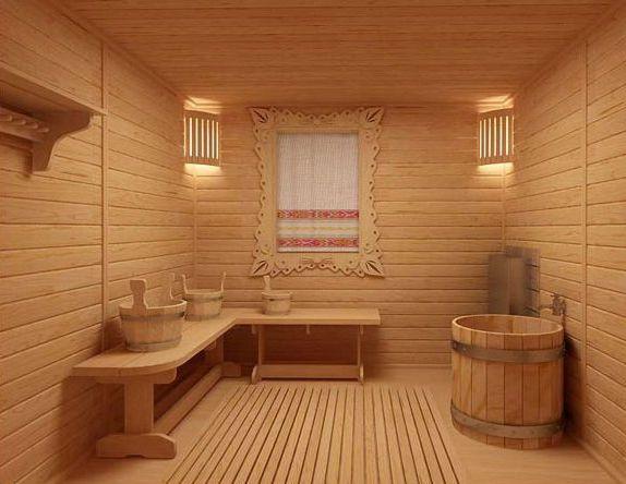 готовый вариант бани с полоком