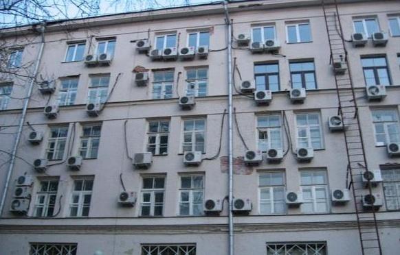 кондеи на фасаде