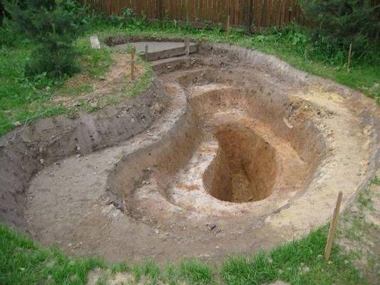 выкопать многоуровневую яму