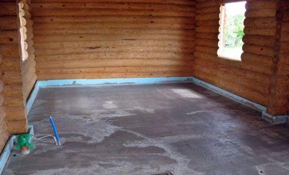 бетонный пол бани