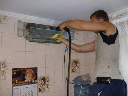 прочистка промывка кондиционера