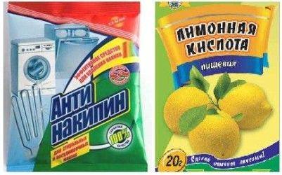 антинакипин и лимонная кислота