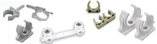 фиксаторы и крепежи для полипропиленовых труб