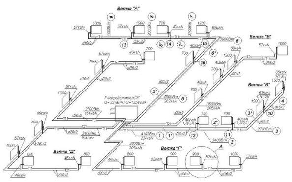 гидрорасчет двухтрубный систем
