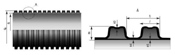 сечение трубы корсис