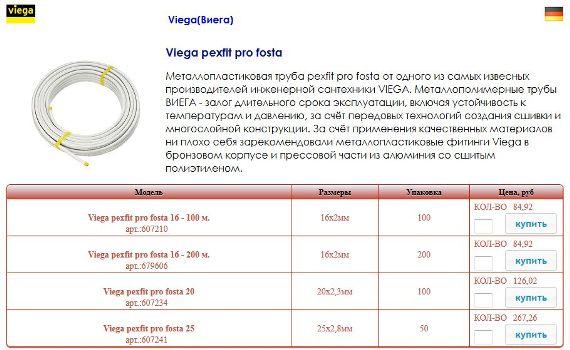 металлопластиковые трубы виега