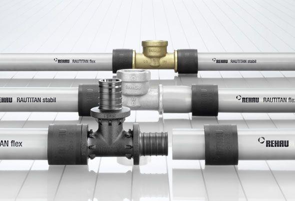 ассортимент водопроводных труб рехау