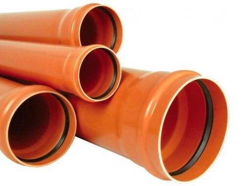 рыжие пластиковые трубы