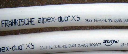 маркировка на металлопластиковых трубах