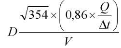 формула расчета проходимости трубопровода