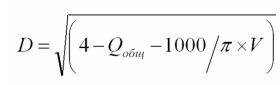 дополнительная формула проходимости труб
