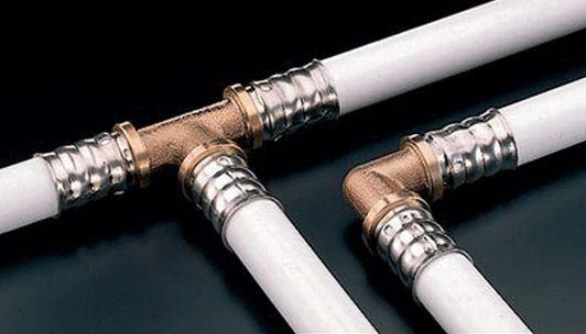 места соединения труб отопления